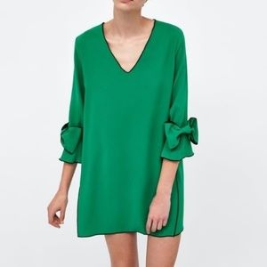 Zara Bow Sleeve Dress